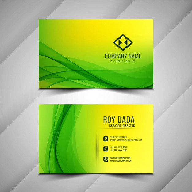 Download Abstract Stylish Green Business Card Background For Free
