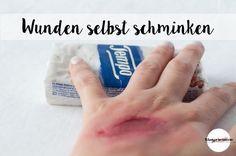 Ganz einfache schnelle Anleitung fürs Wunden schminken. Nicht nur zu Karneval oder Halloween ein Schocker. http://blogprinzessin.de/do-it-yourself-anleitungen/wunden-schminken-mit-taschentuechern/