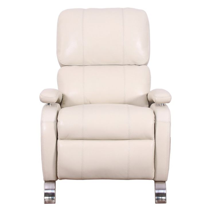 Barcalounger Oracle II Leather Push Back Recliner Cashmere White - 74160351280