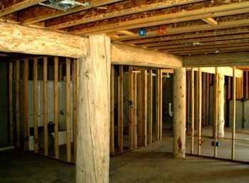 1000 images about rustic basement on pinterest for Log cabin basement ideas