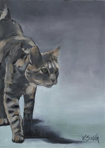 """barn cat"" - Original Fine Art for Sale - © Kim Smith"