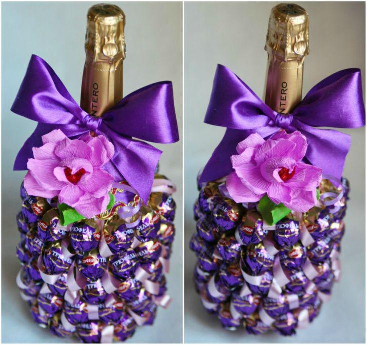 бутылка с шампанским украшенная конфетами: 16 тыс изображений найдено в Яндекс.Картинках