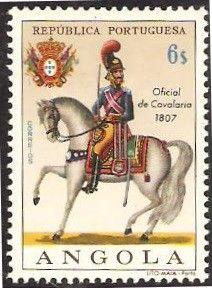 Stamp: Cavalry Officer, 1807 (Angola) (Military Uniforms) Mi:AO 534,Sn:AO 522,Yt:AO 529,Afi:AO 511