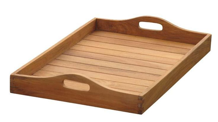 Serving tray, solid teak wood