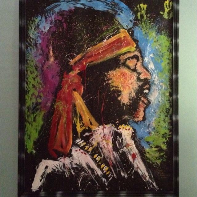 Terrace level - Original hand painting of Jimmy Hendrix!