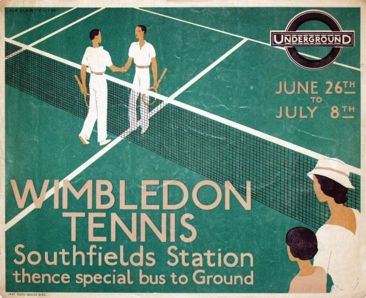 Wimbledon Tennis- Underground - Southfields Station thence special bus to Ground - 1933 - (Marty) -