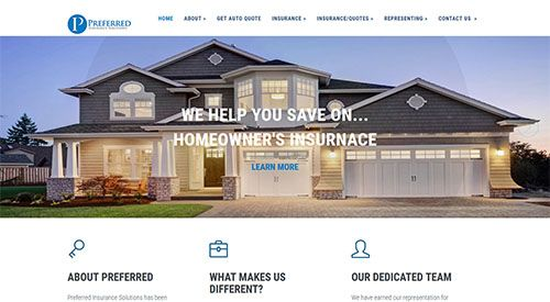 New Responsive Website designed for insurance broker in Germantown, MD