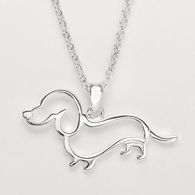 Silver Plate Openwork Dachshund Pendant from Kohls. I have this and for the money it is adorable! On sale for $8.75 now! Reg. $25.00