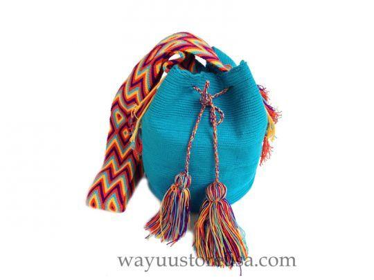 Authentic Wayuu Mochilas Bag Crossbody 11 in.H x 9 in.W -