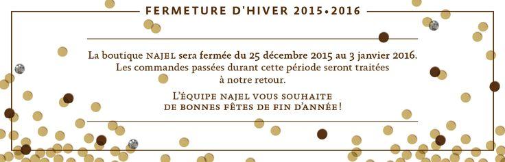 Il est encore temps d'effectuer vos achats de Noël !  Rdv sur la Najel boutique !  http://boutique.najel.net/