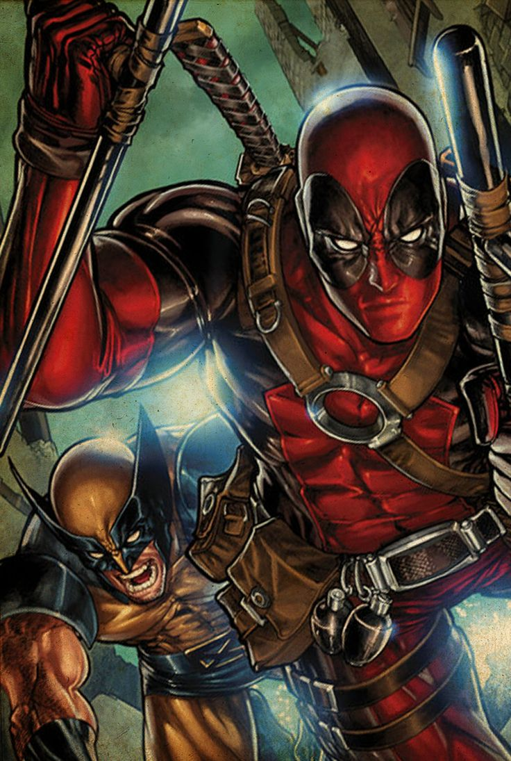 Deadpool and Wolverine share the healing genetic except ... X Men Deadpool Drawings