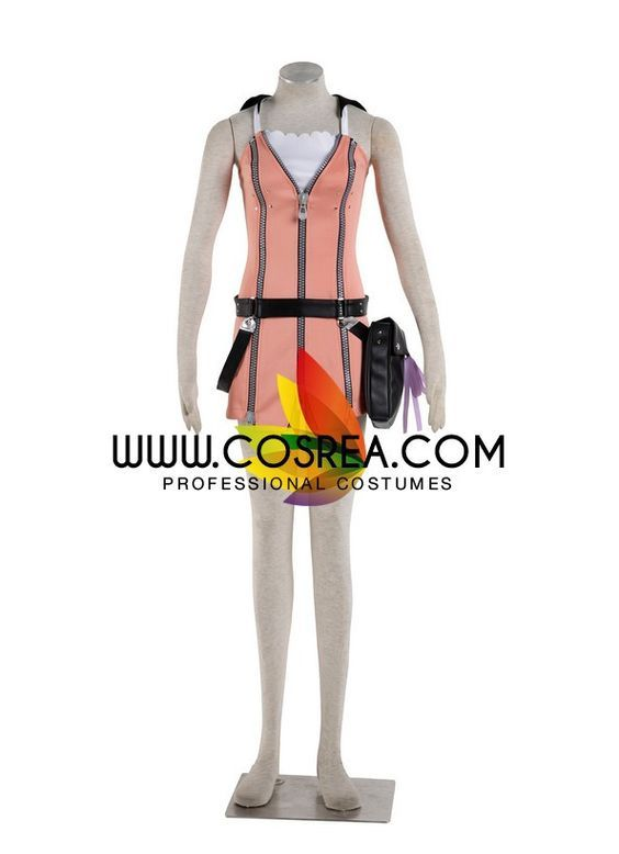 Costume Detail Kingdom Hearts Kairi Cosplay Costume Includes - Dress Set, Belt Set, Pouch Please see individual tabs for information including: -available sizes for this costume -available custom opti