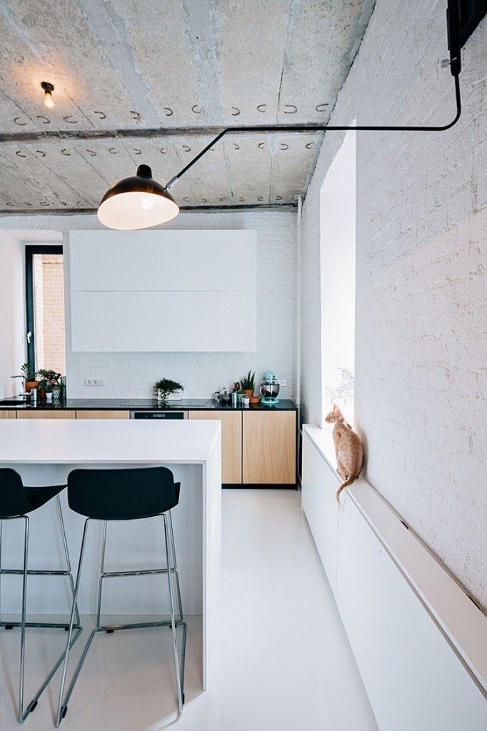 Industrieel appartement met stalen kozijnen en deuren