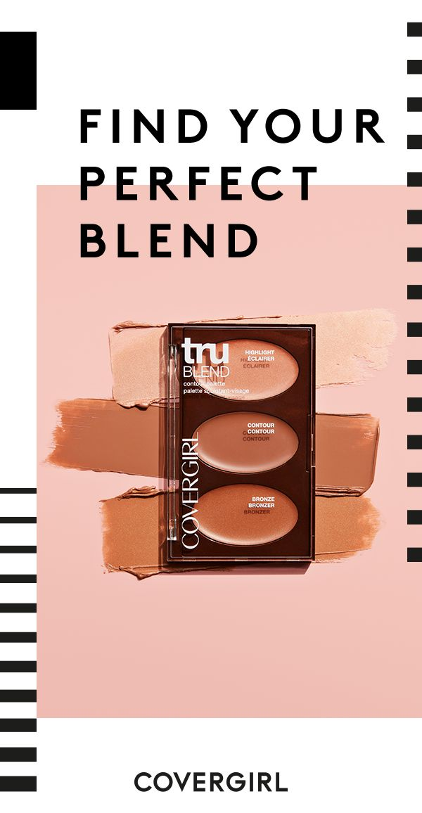 Master the art of face sculpting with the COVERGIRL truBLEND Contour Palette. Our palette includes 3 creamy ultra-blendable highlighting, contouring and bronzing formulas that help define and accentuate your features.
