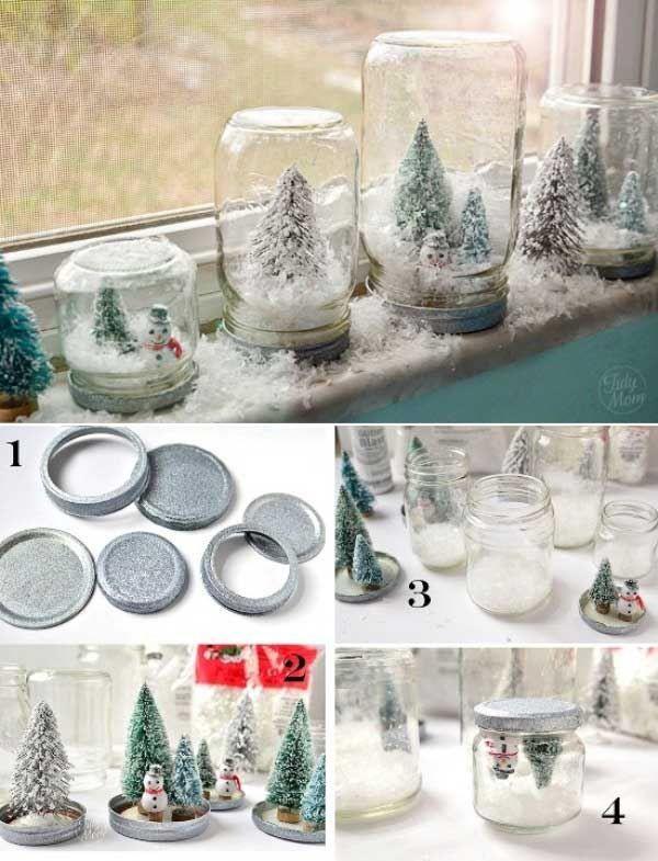 21 Ideen für selbstgemachte Weihnachtsdekoration #DIY #Weihnachten #Dekoration