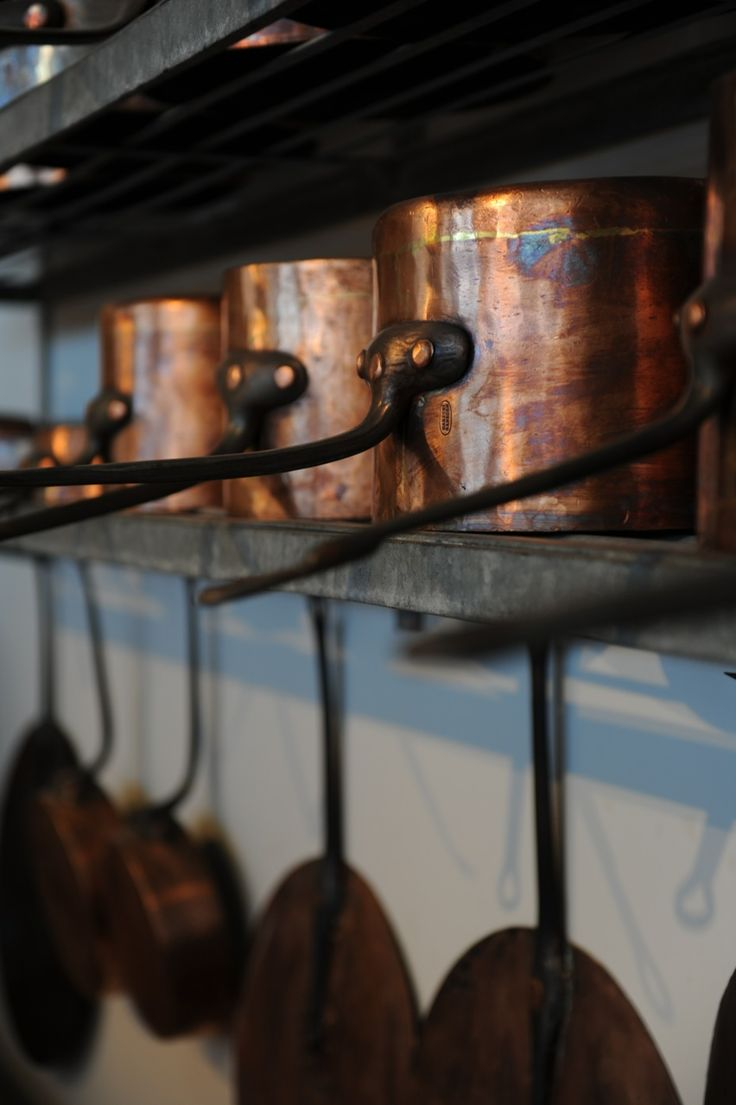 copper kitchen pans. Would make my kitchen look beautiful, yet it would remain sadly untouched.