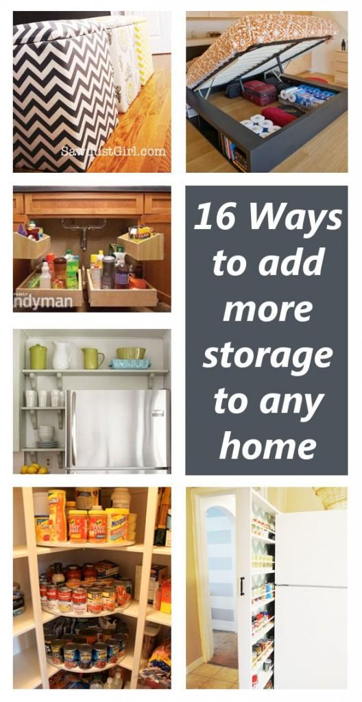 16 ways to add more storage to any home - Great storage ideas!