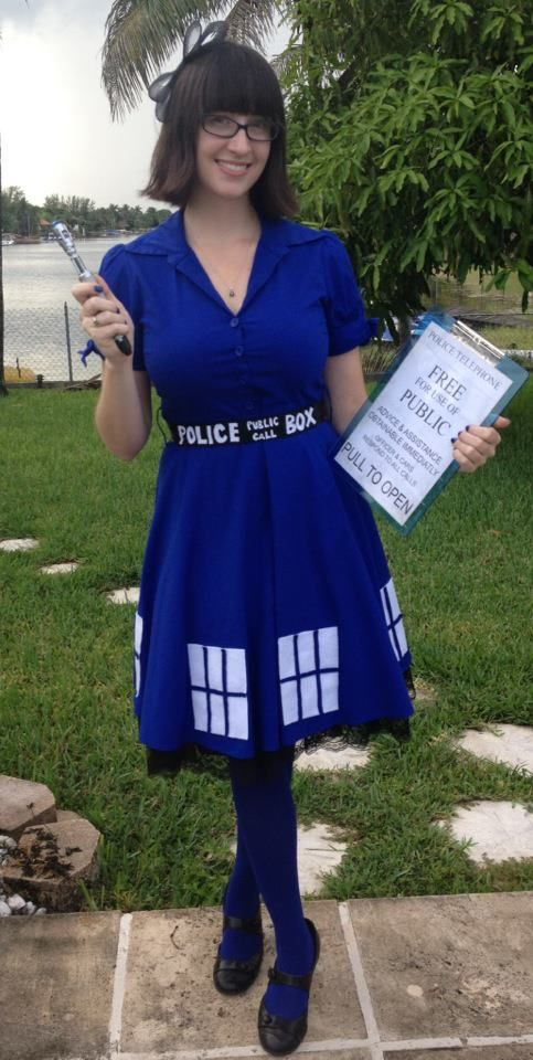 Awesome TARDIS costume. @deb rouse schwedhelm rouse schwedhelm rouse schwedhelm Moran it can be done with class!!!