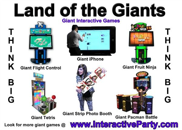 Giant Interactive Games   Bar / Bat Mitzvah And Teen Party Entertainment  (from Interactive Entertainment