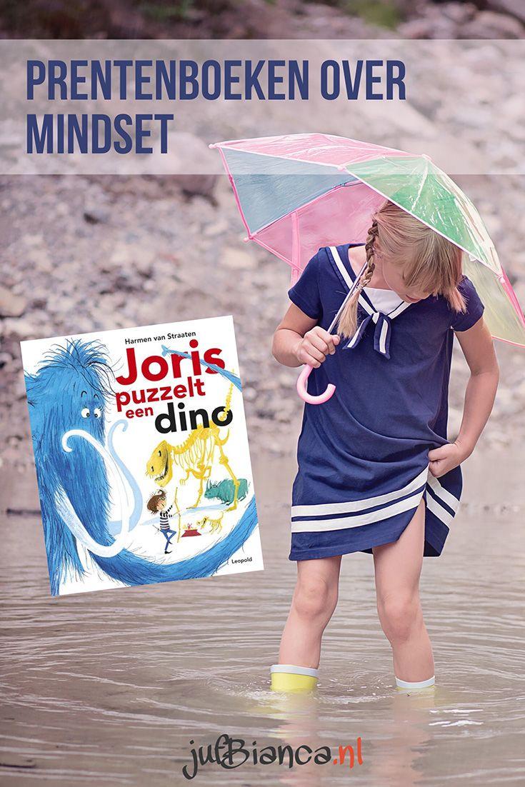 Het is soms lastig om kinderen de juiste mindset, een zogenaamde groei mindset, aan te laten nemen. Vooral slimme kleuters hebben hiermee te maken. Ze zijn zo gewend dat ze alles kunnen, dat iets nieuws proberen of iets oefenen lastig is. Eerder schreef ik al een artikel over het belang van de juiste feedback. In deze serie wil ik prentenboeken bespreken die kunnen leiden tot een gesprek over mindset. Vandaag is Joris puzzelt een dino aan de beurt!