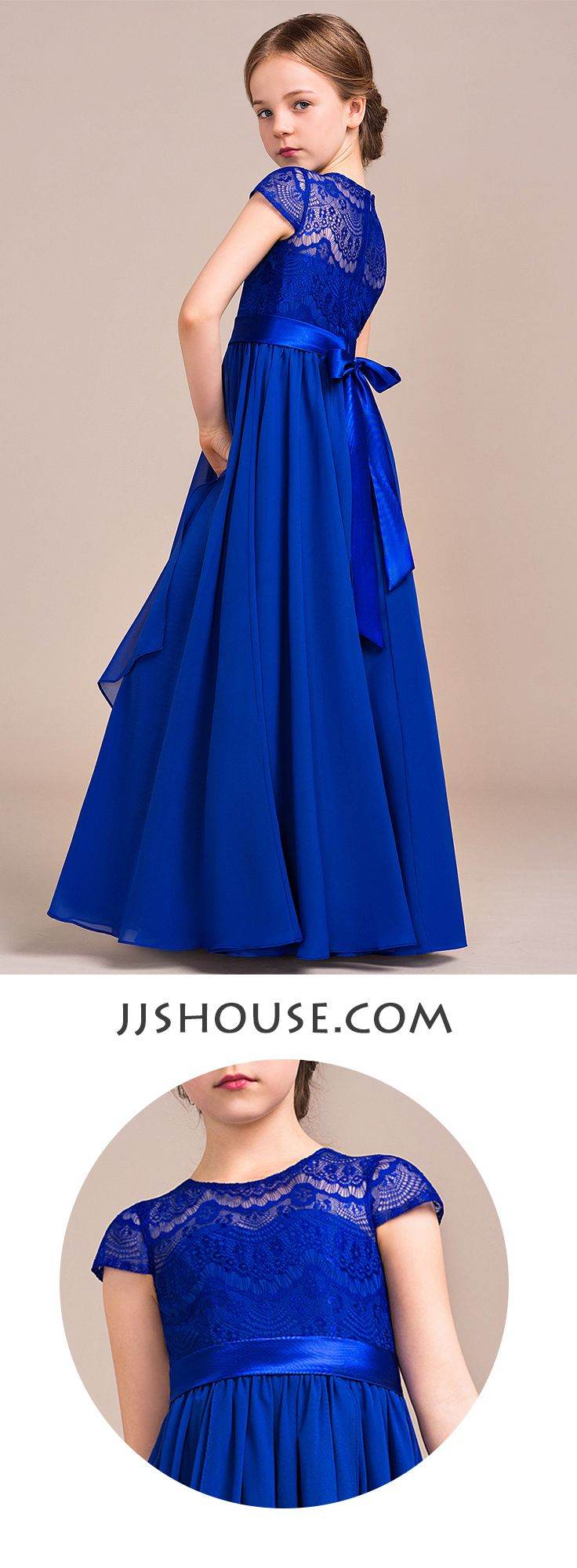 Classy little gown for your junior bridesmaid! #jjshouse