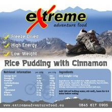 Extreme Adventure Food  500 + Kcal Desserts - Rice Pudding with Cinnamon