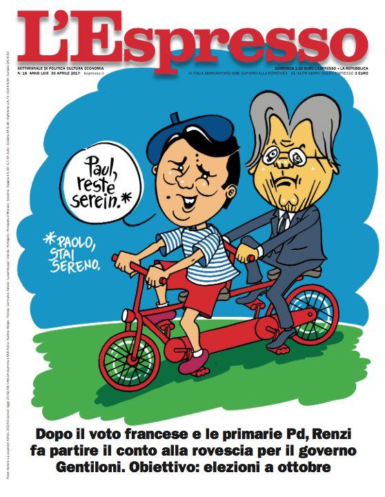 La copertina dell'Espresso in edicola da domenica 30 aprile