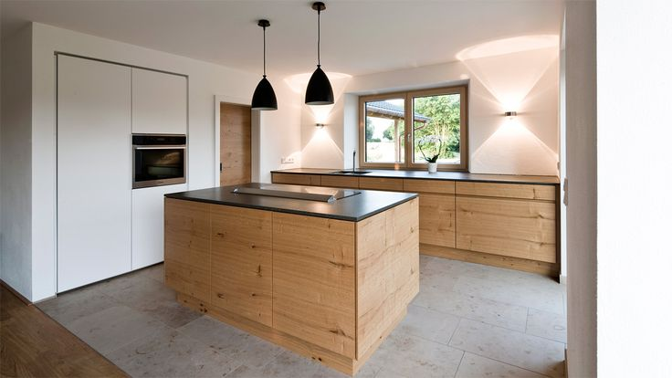 Küche mit Theke - Schrank in Wand Home Küche   Kitchen Pinterest - küche weiß mit holz