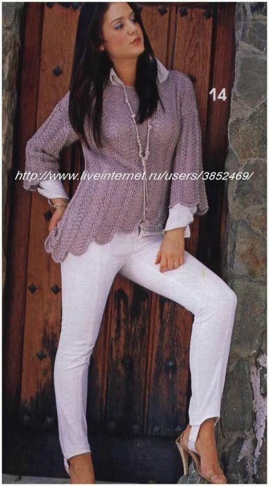 пуловер со ступенчатым краем (387x700, 196Kb)