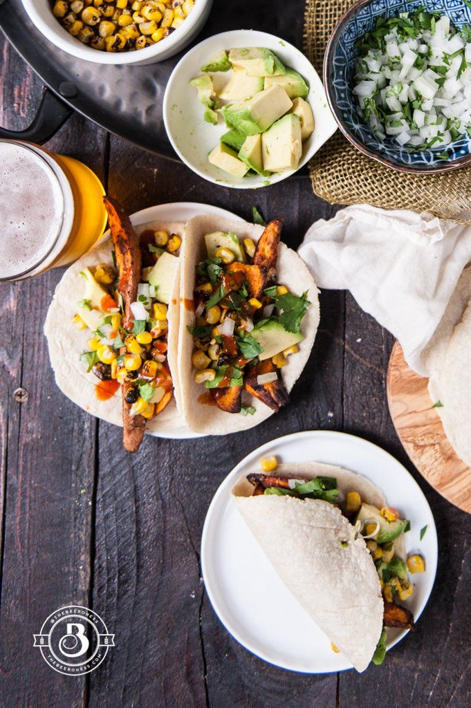 Get the recipe: crispy sweet potato tacos Image Source: The Beeroness