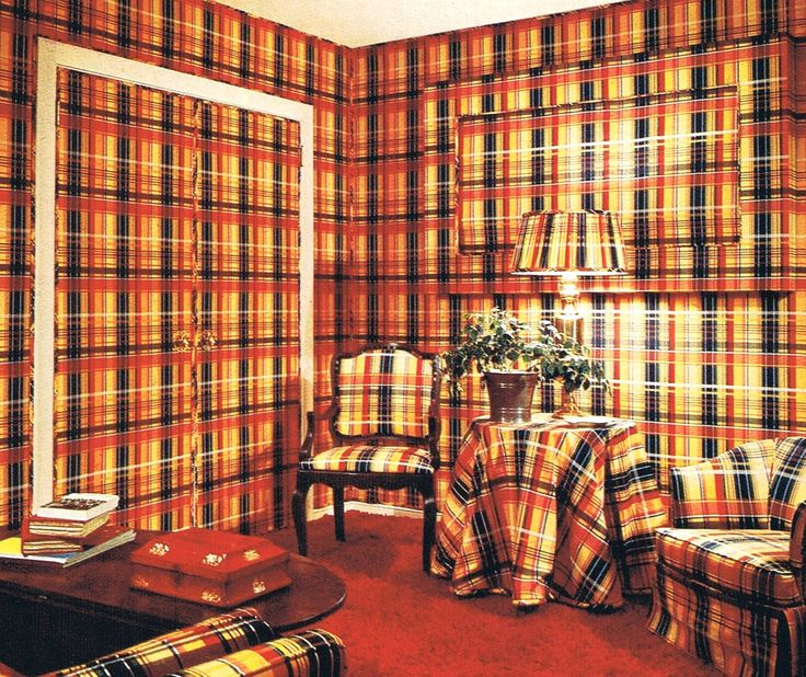 Or Possibly Because Of Plaid. Thriftstorescans: U201cIdea From The Better Homes  U0026 Gardens Decorating Book, 1975 U201d
