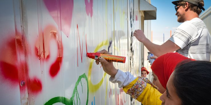 Norwegian stencil and street artist Martin Whatson speaks to us about his work at two Syrian refugee camps Jordan in collaboration with TOMS and the Norwegian Refugee Council.