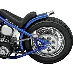 Image of Drag Specialties 18x35 Inch 60 Spoke Laced Rear Wheel - Harley Davidson FXSTC Dyna 00-05 FLSTCF 00-06 - 0204-0057