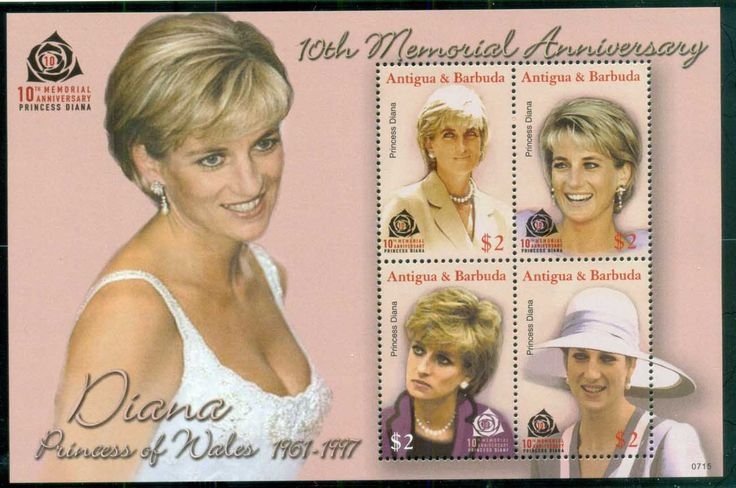 Antigua & Barbuda 2007 Princess Diana in Memoriam, 10th Anniv., Lovely Lady Diana MS MUH