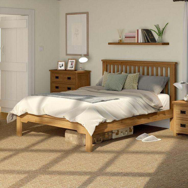 Rome Oak Double Bed