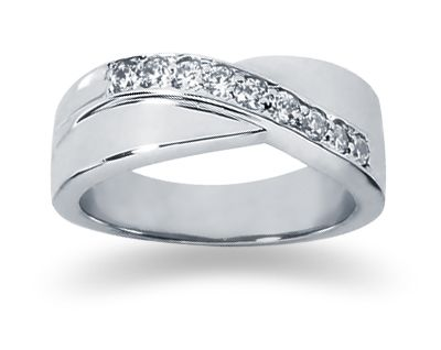 Awesome Incredible Stylish Cheap Wedding Bands For Women Classic Shape Round Shape Platinum White Gold Real Diamond Carat Modern Accessories