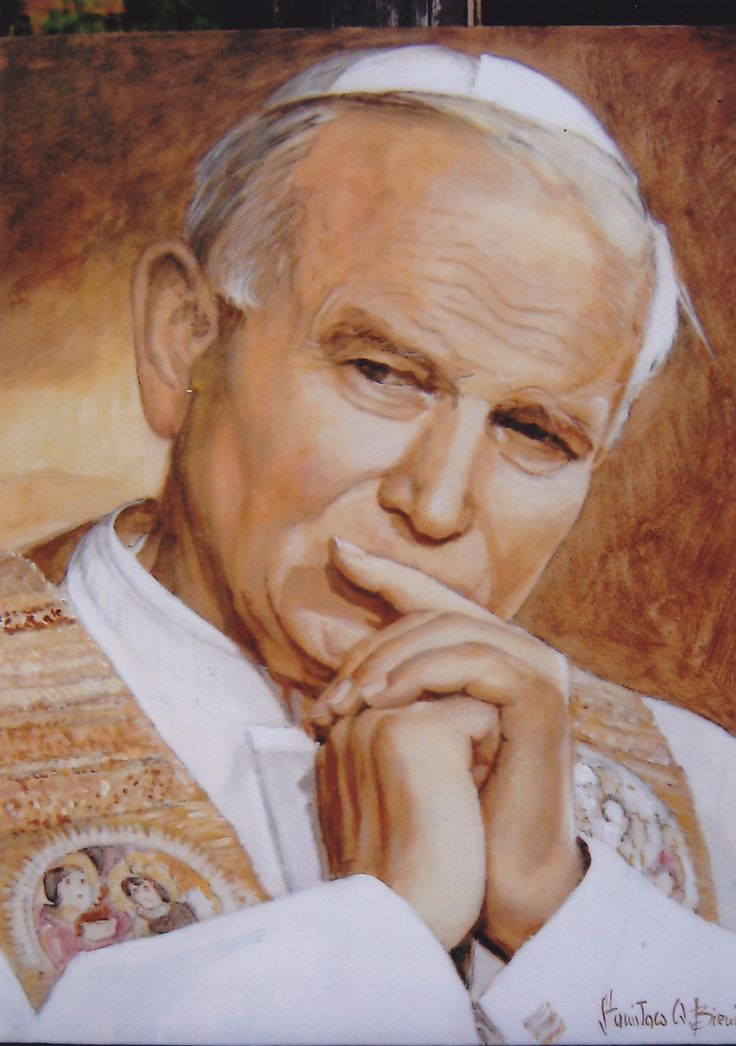 Portrait of John Paul II acrylic on canvas Stanislaw ...