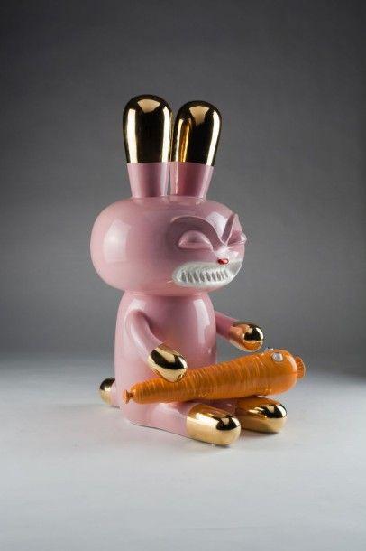 Tajan, Paris Massimo GIACON (né en 1961) Love Carrot, The Pop Will Eat Himself Collection, 2009 Céramique Tirage limité à 50 exemplaires H: 58 cm - Symev - 26/03/2015