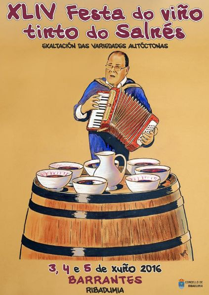 CORES DE CAMBADOS: 44 FESTA DO VIÑO TINTO DO SALNÉS EN RIBADUMIA