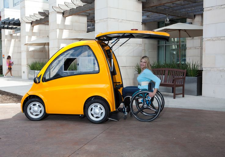 MAde to assist the handicapped, the US-made Kenguru measures 7' long and 5' high, smaller than a Smart Car. It has no seats -- drivers simply roll a wheelchair in from a pop-up back door. Designed for use on local roads, the vehicle goes up to 25 mph, with an estimated range of 60 miles. The Kenguru will cost about $25,000, before green energy and mobility tax incentives.