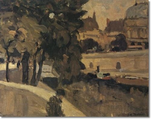 James Wilson Morrice Along the Seine Paris Date ca 1900