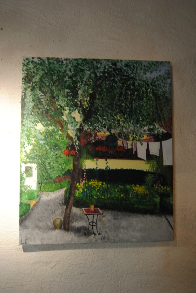 """""""Apotekarns Trädgård"""" by Linnea Englander, 2010, acrylic on canvas"""