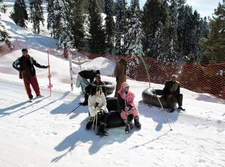 Customers and inner tube renters rest on the side of the piste at the ski resort in Malam Jabba, Pakistan February 7, 2017. (REUTERS/Caren Firouz)  via @AOL_Lifestyle Read more: https://www.aol.com/article/news/2017/02/24/ski-resort-gives-pakistan-tourism-a-lift/21721257/?a_dgi=aolshare_pinterest#fullscreen