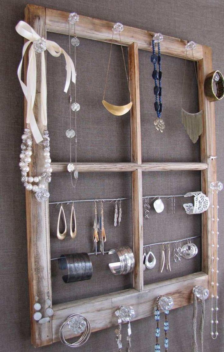 Aufbewahrungsidee für Ketten, Ohrringe und Armbänder