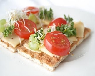 Wasa Crispbread ~ tasty topped with anything. No sugar, low sodium and good fiber content.