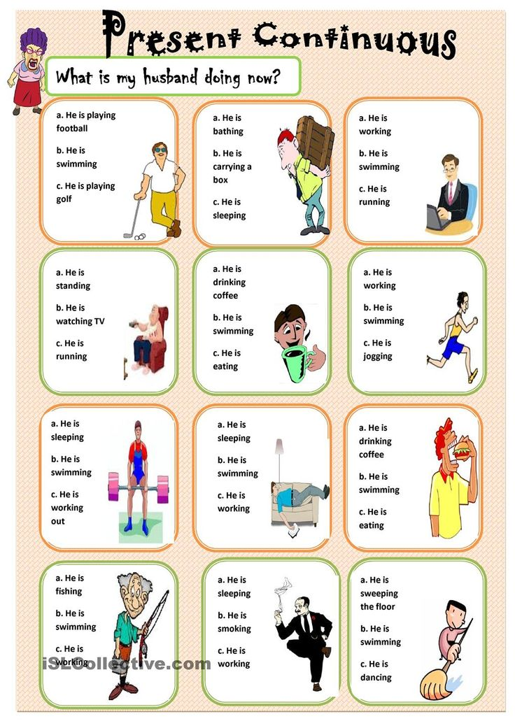 Present Continuous | ESL worksheets of the day | Pinterest ...