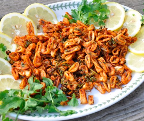 62 best tasty pairings recipes images on pinterest craft beer citrus and spicy grilled calamari fandeluxe Images