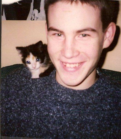 Zach Cregger and a kitten