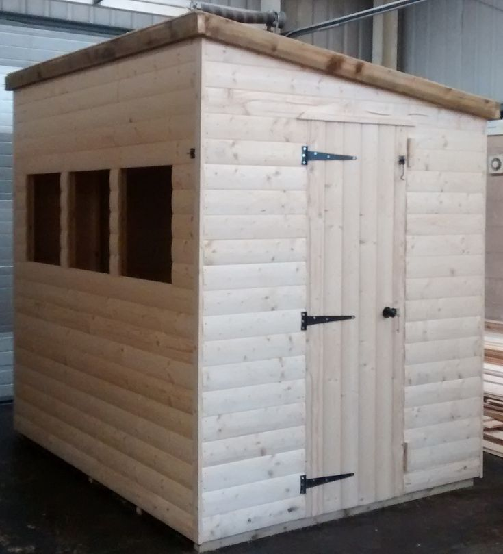 Pent Shed (8' x 6')  19mm Loglap Cladding