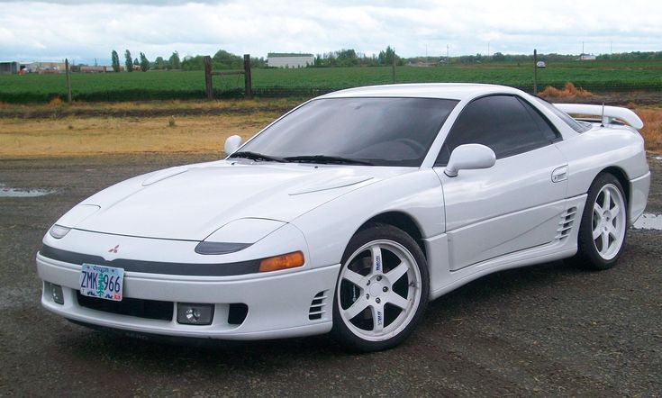 1990-1993 Mitsubishi 3000GT VR-4. Looks great, 300 horsepower twin-turbocharged V-6, All-Wheel Drive, 4-Wheel Steering